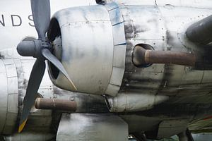 Oude vintage vliegtuigmotor