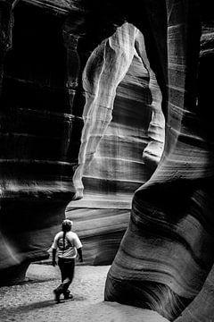 Antelope Valley in schwarz-weiß von Gerrit de Heus