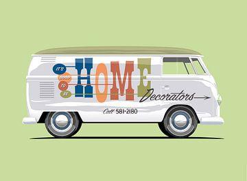 Vintage bus Home Werbeschriftzug von Ruben Ooms