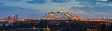 Panorama du pont de Brienenoord à Rotterdam sur Anton de Zeeuw