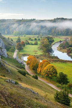 Morgens im Eselsburger Tal mit Fluss Brenz bei Heidenheim von Daniel Pahmeier