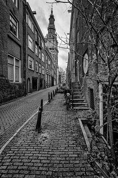 Die Zandstraat in Amsterdam mit der Zuiderkerk. von Don Fonzarelli