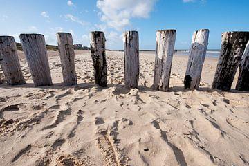 Wellenbrecher am Strand von Zeeland von Ivonne Wierink