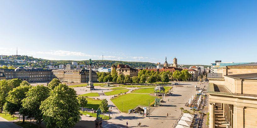 Schlossplatz in Stuttgart van Werner Dieterich