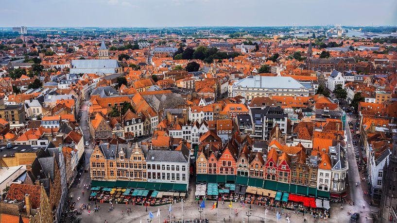 Uitzicht over Brugge van Roy Poots