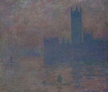 Parlamentsgebäude, Sonnenlichteffekt (Le Parlement, Effet de soleil), Claude Monet
