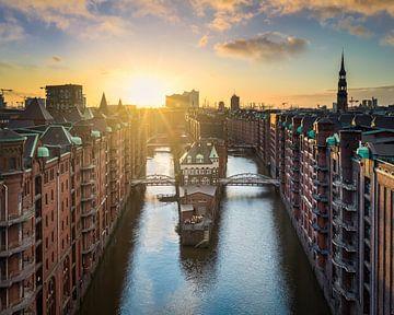 Sonnenuntergang in Hamburg von Michael Abid