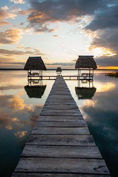 Sonnenuntergang in Guatemala von Jessica Brouwer