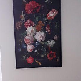 Kundenfoto: Blumenstrauß in einer Glasvase von Schilders Gilde, auf leinwand