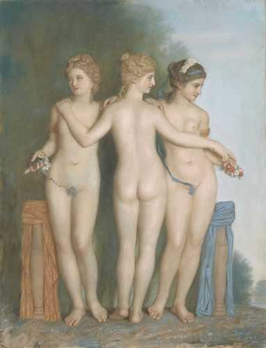 The Three Graces, Jean-Etienne Liotard von Meesterlijcke Meesters