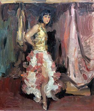 Staande danseres, Isaac Israels - ca 1900 van Atelier Liesjes