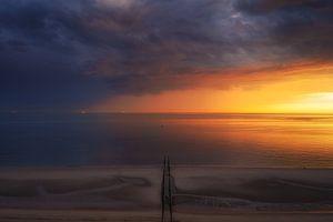 Lucht vol kleur aan de kust