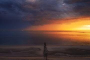 Un ciel haut en couleurs sur la côte
