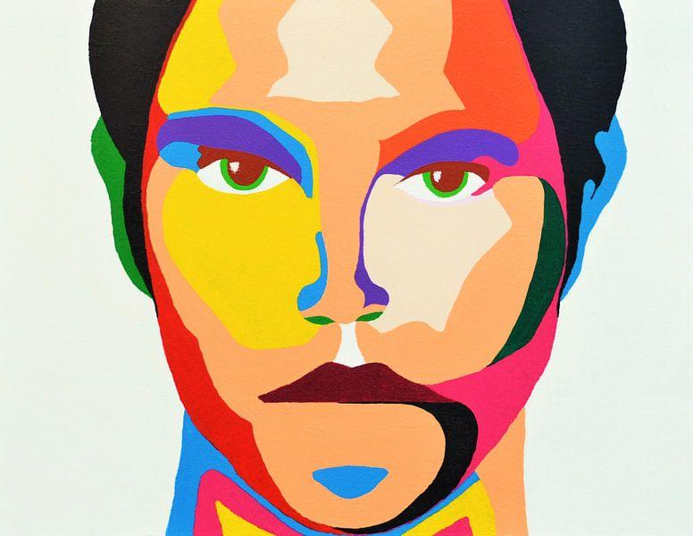 Focus, en face portret van Freek van der Hoeve