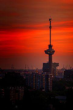 Euromast Sunset van Rob Hogeslag