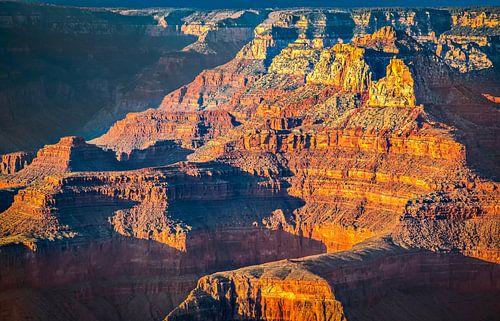 Gouden gloed over de Grand Canyon, VS