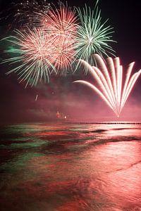 Feuerwerk am Strand von Zingst an der Ostsee