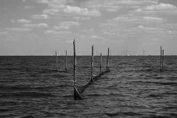Windmühlen im IJsselmeer von Wytze Plantenga