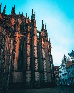 La cathédrale d'Utrecht sur de Utregter Fotografie