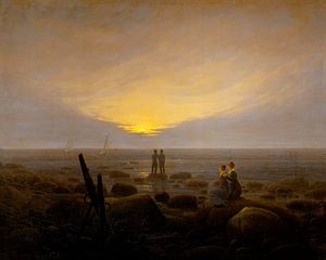 Caspar David Friedrich - Moonrise over the sea
