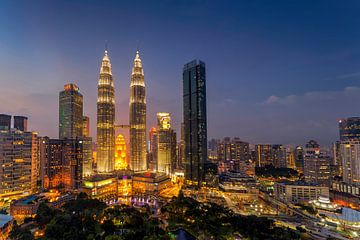 Petrona-Zwillingstürme, Kuala Lumpur, Malaysia von Adelheid Smitt