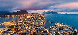 Zonsondergang, Alesund, Noorwegen