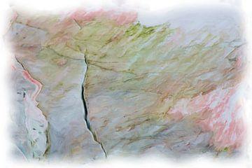 Abstract rosa grün blau von Maurice Dawson