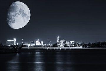Een koude nacht in de Antwerpse haven von Bjorn Dockx