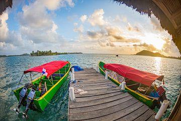 Sunset on the San Blas Islands von Michiel Ton
