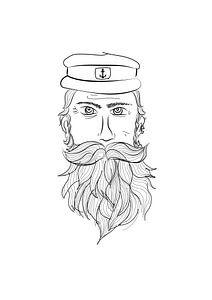 Poster kapitein - piraat - Terschelling van Studio Tosca