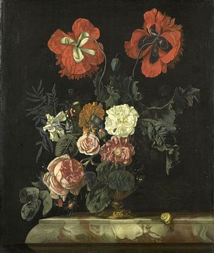Nicolaes Lachtropius, Stilleven met bloemen