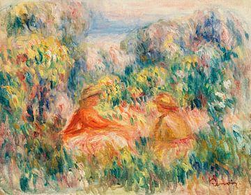 Zwei Frauen in einer Landschaft, Pierre-Auguste Renoir (1918)