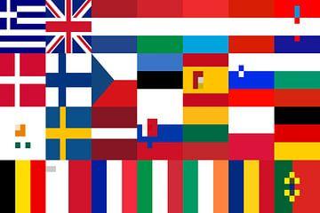 Fahnen der Union 3: vereinfacht von Frans Blok