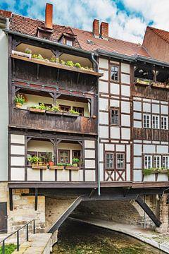 Fachwerkhäuser der Krämerbrücke in Erfurt von Gunter Kirsch