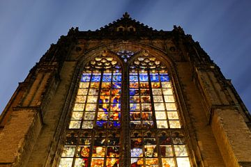Domkerk in Utrecht met glas-in-loodramen von Donker Utrecht