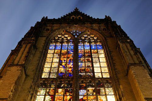 Domkerk in Utrecht met glas-in-loodramen