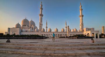 Sheikh Zayed Grote Moskee Abu Dhabi verenigd Arabisch Emiraat buiten daglicht uitzicht