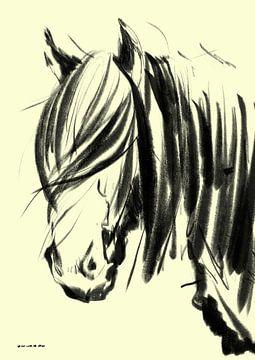 Pferd Wind und Haar von Go van Kampen