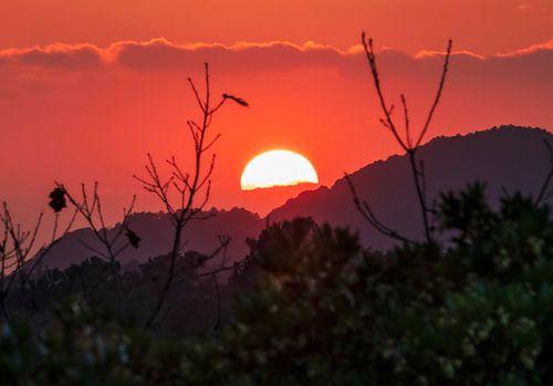 Spectaculaire zonsondergang van