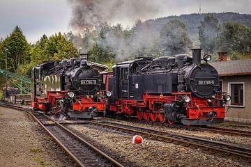 Locomotive à vapeur à voie étroite de la Fichtelbergbahn sur Rob Boon