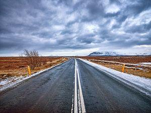Ijsland Empty Roads van Jacques Yasemin