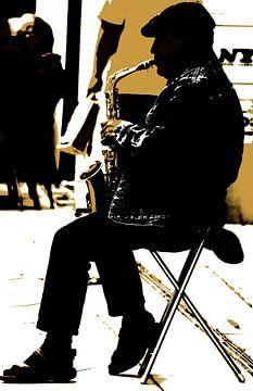 Straatmuzikant van Kirsten Warner
