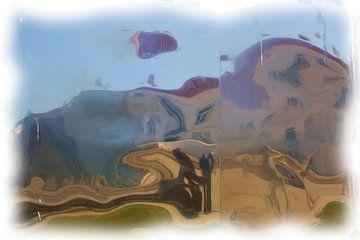 Abstract dorpsplein van Maurice Dawson