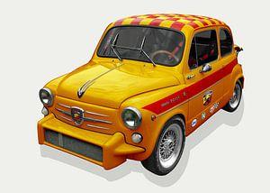 Fiat Abarth 1000 TC in geel van aRi F. Huber