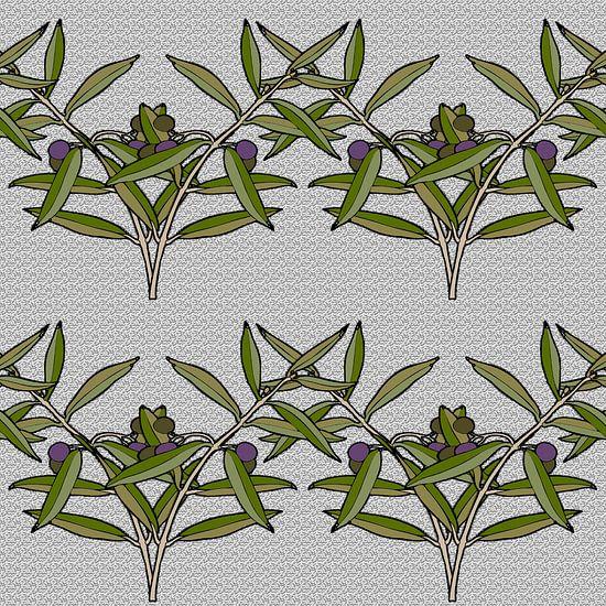 GRAFISCHE PRINT OLIJF 2 van MY ARTIE WALL