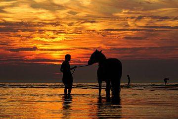 Zee, zon en strand van Dirk van Egmond