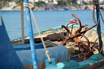 vissersboot in haven van Bitez van Marieke Funke