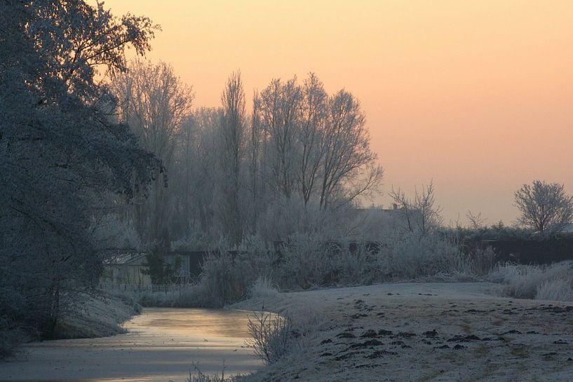 Winters landschap van Miranda van Hulst