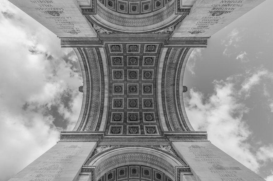 De Arc de Triomphe in Parijs van MS Fotografie