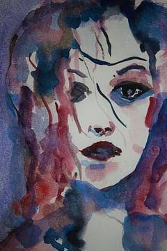 Portret of a woman 2 van ArtBoxi